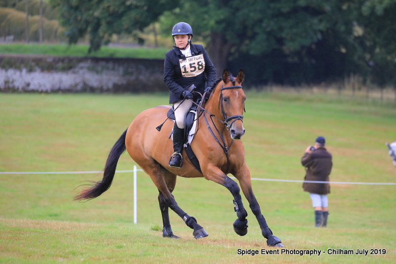 Elizabeth Ross eventing her bay mare 'Tulla' at Chilham 2019.
