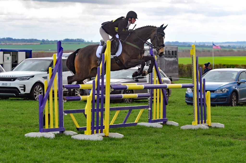 Photos of Jas eventing one of her horses Dundee